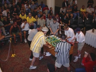 Pictured is the finals of a super doubles tournament presented in Austin, Texas during 2001.