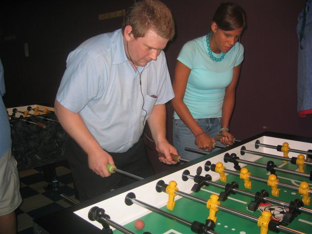 Dale Moore of Morris, and Crystal Walden of Decatur, are pictured while competing durning a weekly DYP in Cullman.